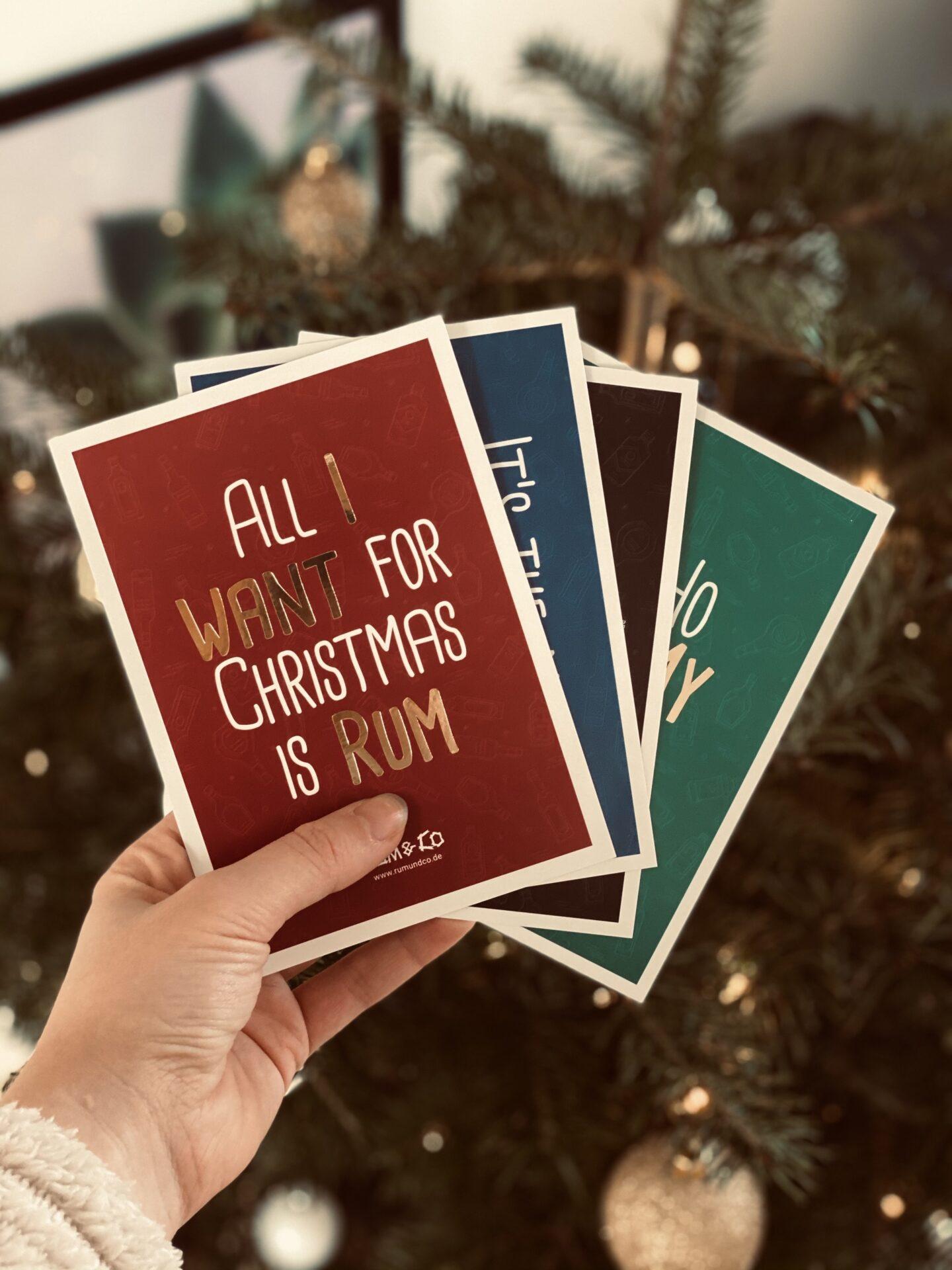 Weihnachtskarten Rum & Co